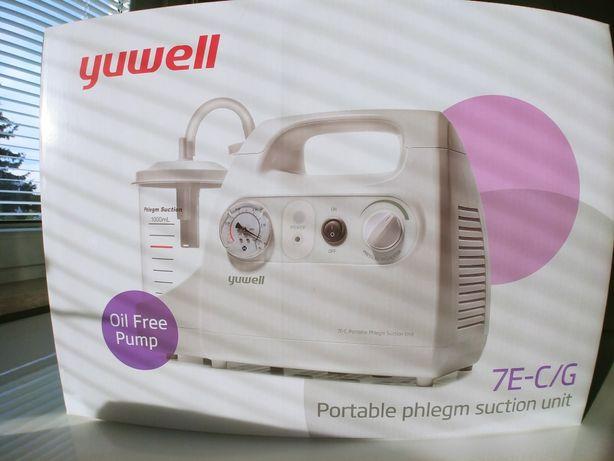 Nowy ssak medyczny Yuwell 7E-G. Elektryczny, przenośny.Okazja 1/2 ceny