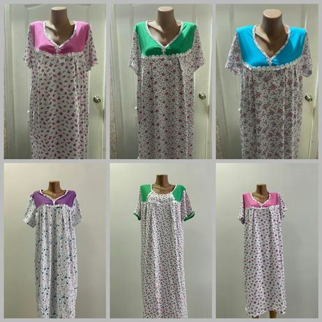 Ночная рубашка хлопок 100% , 62-48, Узбекистан