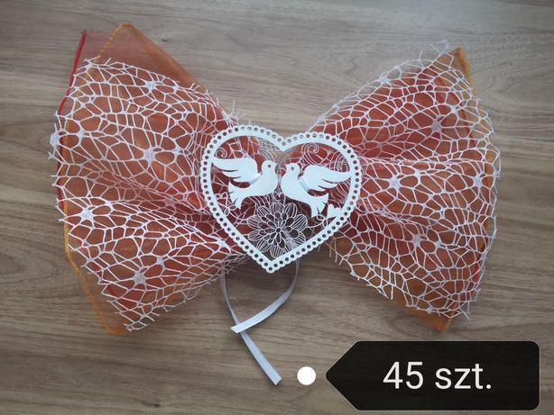 Ozdoby podwórka domu wesele ślub serca, pomarańczowe, czerwone, białe