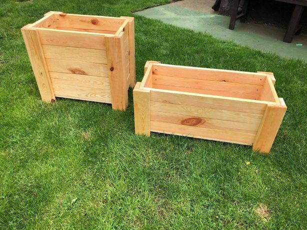 NOWE drewniane donice, doniczki w różnych rozmiarach. KONTAKT OLX