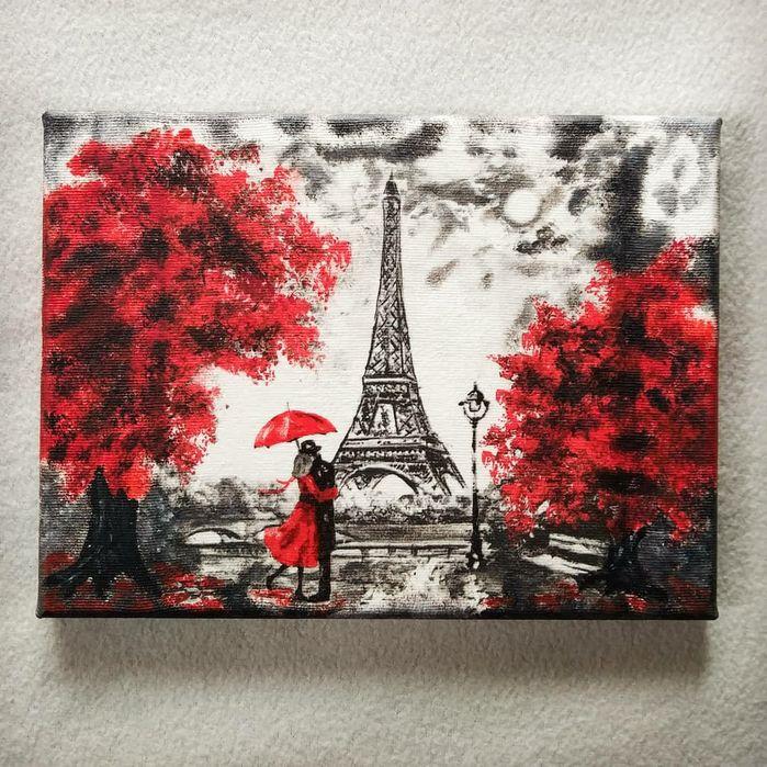 Obraz dequpage Paryż, Francja, wieża Eiffla Lucynów - image 1