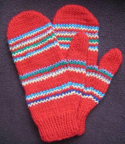 Czerwone rękawiczki nowe