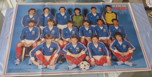 Poster Equipa Les Bleus 1984- Onze Francesa -Medida: 84X55