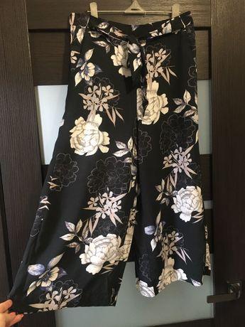 Шикарные широкие брюки кюлоты в цветы