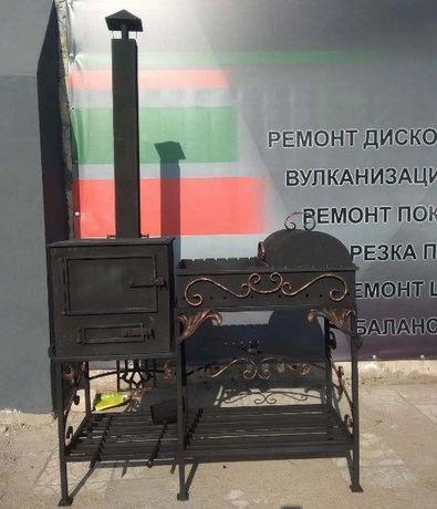 ШИКАРНЫЙ! Стационарный Мангал Барбекю Ручной Работы! Печь для Казана