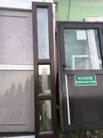 Okno stałe 30 x 206 dąb bagienny dostawka 30 x 210