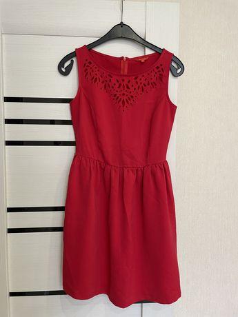 Красное летнее платье женское XS