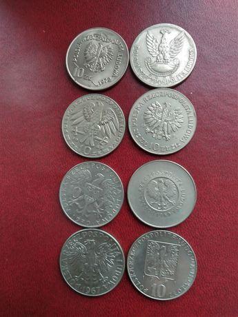 Stare monety 10 złotych z lat 67-72