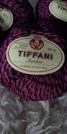 Oryginalna, nowa włóczka Tiffani, 125m/50g (6 włóczek)