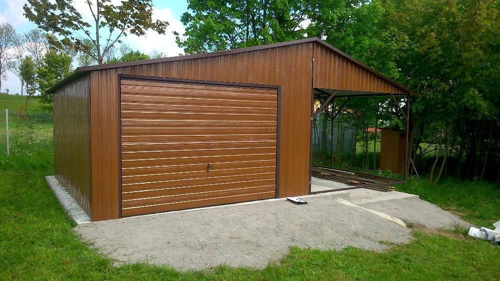 garaże blaszane od producenta, profil zamknięty, hale blaszane