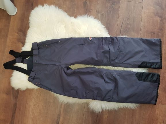 Jnowe grafitowe spodnie narciarskie szelki 164 cm jreima