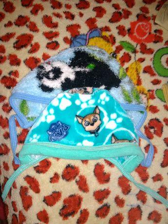 Теплые шапочки для новорождённого