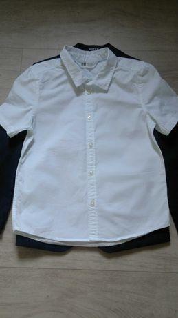 Рубашка белая H&M для мальчика на рост 128 см
