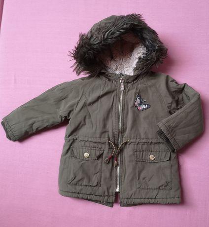 Kurtka Parka zimowa Zara khaki 86