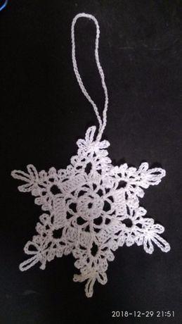 снежинки елочные украшения