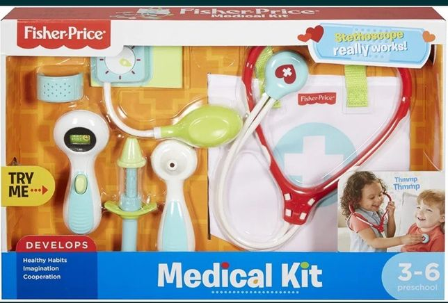 Набор доктора Фишер-Прайс Fisher-Price Medical Kit with Doct  799 грн.