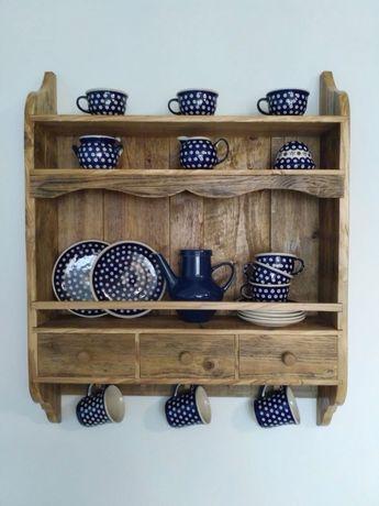 Półka kuchenna, wisząca, kredens, stary styl rustykalny vintage