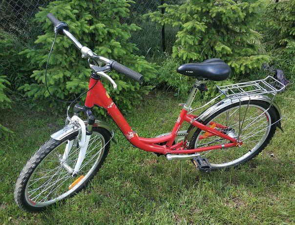 """Rower dla dziewczynki, aluminiowa rama, koła 24"""""""