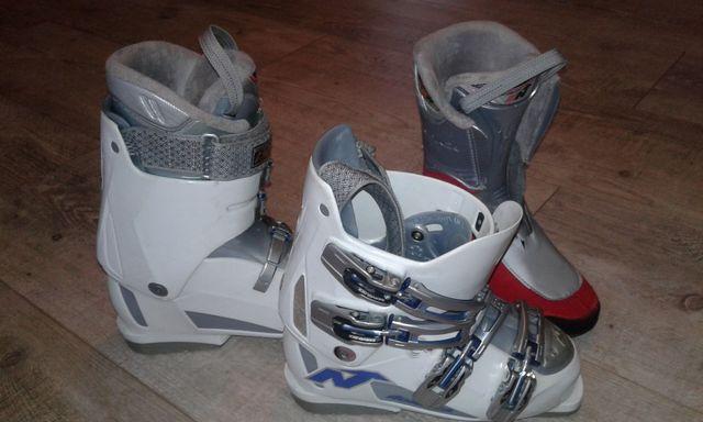 buty narciarskie rozmiar 24-24,5 skorupa 285mm, długość wkładki 24cm