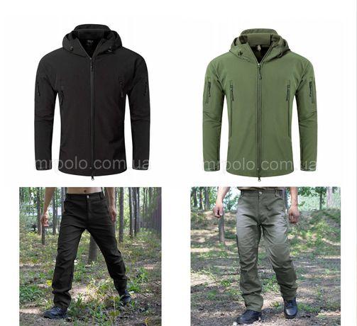 Тактический  влаго-ветрозащитный комплект (куртка + брюки) Soft Shell