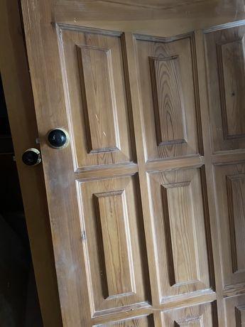 Межкомнатные деревянные двери с коробкой и фурнитурой