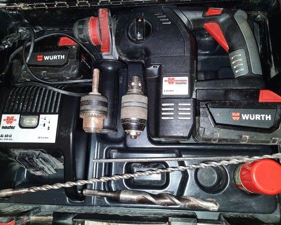 Martelo /  berbequim torna wurth h 28 MAS a bateria