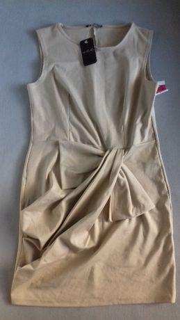 sukienka ecru r.38
