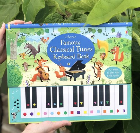 Famous Classical Tunes keyboard book,Usborne пианино +ноты,игрушка