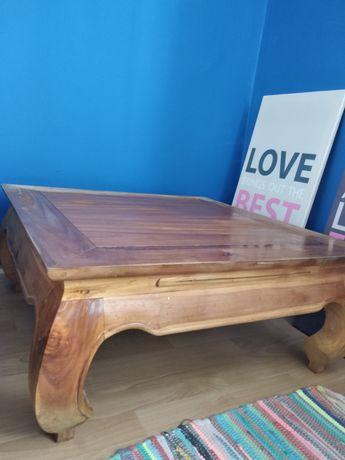 Stolik lite drewno masywny kawowy 80cm *80cm