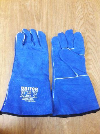 Перчатки сварочные синие Unitor