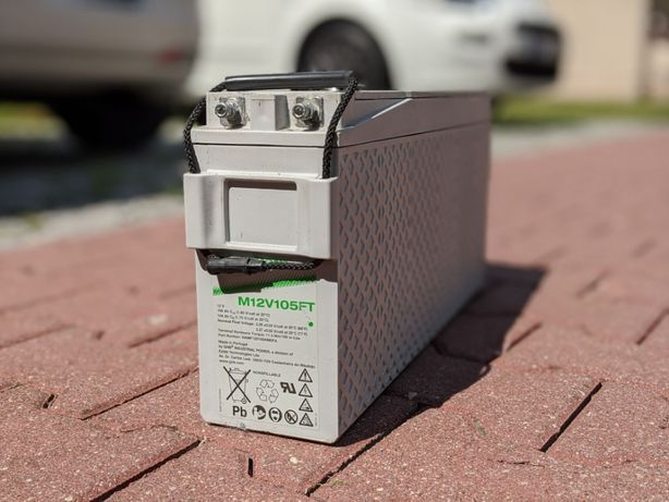 4x Akumulator żelowy AGM GNB Marathon M 12V 105 FT UL94, 12 V, 100 Ah