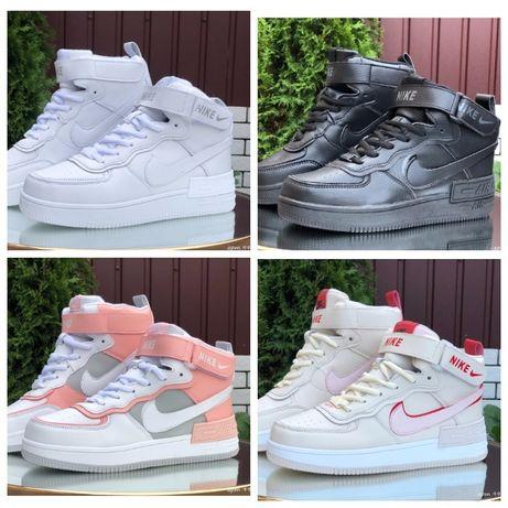 Nike Air Force ( 36 - 41 р. ) зимние кроссовки, ботинки !!!