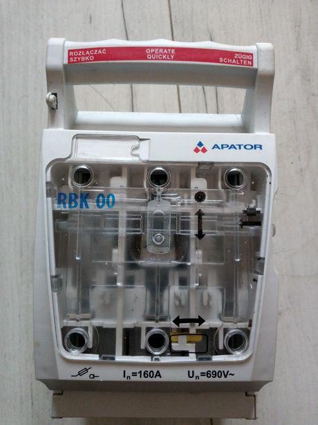Rozłącznik izolacyjny bezpiecznikowy RBK00 APATOR z wkładkami