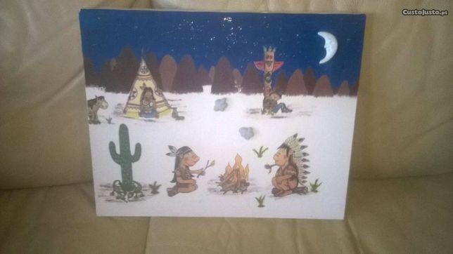 Conjunto de 2 Quadros Criança Decorativos