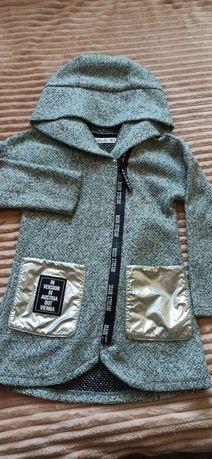 Лёгкое пальто-кардиган для девочки