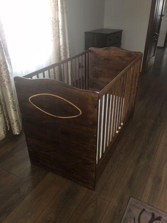 Łóżeczko dziecięce drewniane 120x60 cm