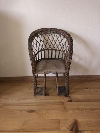 krzeselko drewniane do roweru