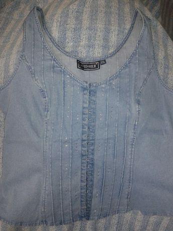 Очень красивый новый джинсовый костюм