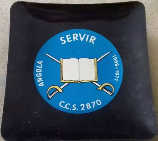 "Cinzeiro do Ultramar de Angola ""C.C.S. 2870 de 69/71"""