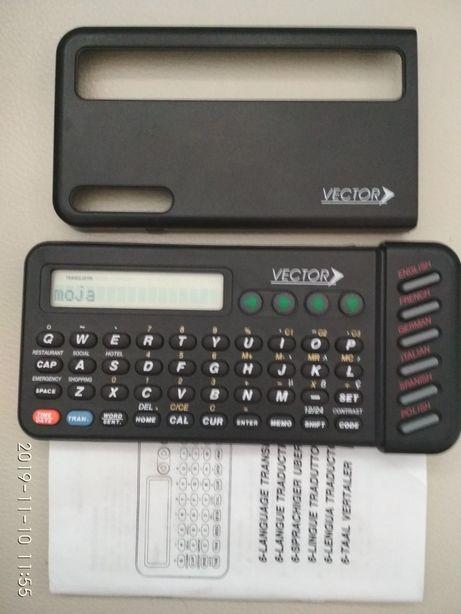 tlumacz elektroniczny vector k939 sprawny, z instrukcją nieużywany