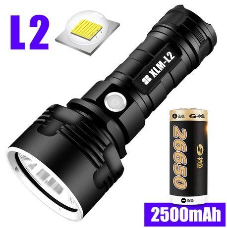 BARDZO MOCNA Latarka Taktyczna LED L2 Wodoodporna