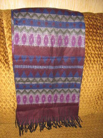 шерстяной женский шарф