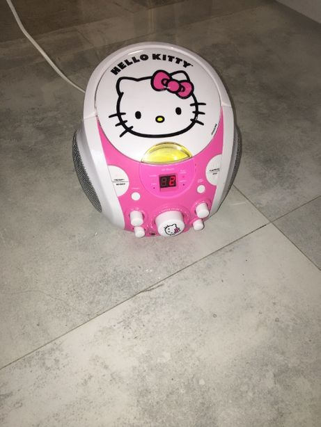 hello kitty radioodtwarzacz radio CD karaoke boombox cdg dziewczynki