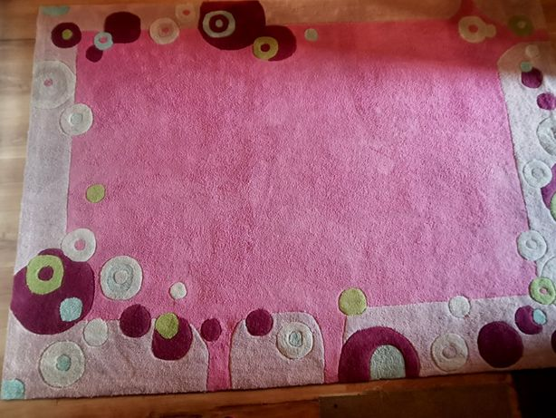 Dywan 140 x 200 cm różowy dla dziewczynki ( Model :Candy)