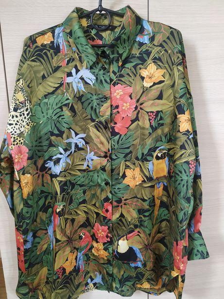Koszula oversize z nadrukiem Zara
