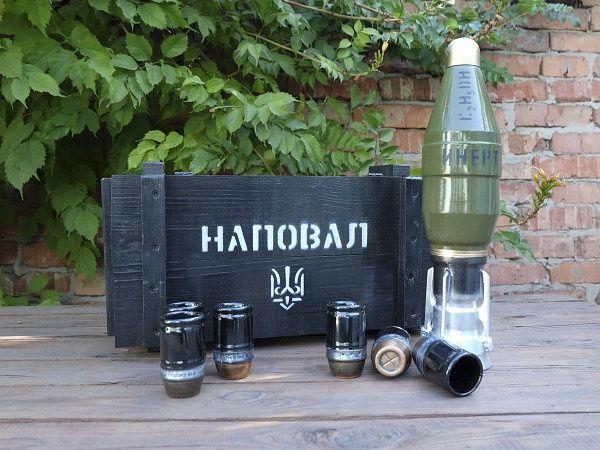 Подарочный набор Мина бутылка от РПГ-26 мужчине, солдату, парню, мужу