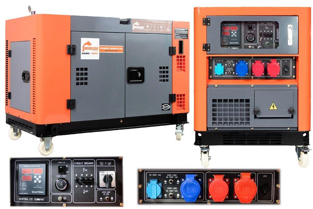 Agregat prądotwórczy 1 kVA 12 kW 230/400V DIESEL wzmocniona faza 230 Suchy Las - image 1