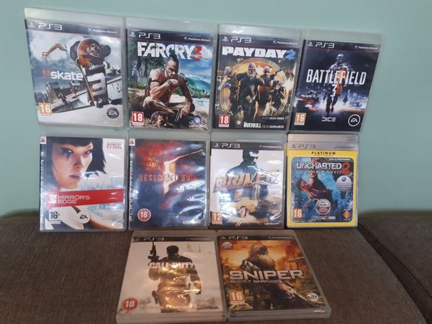 Gry PS3 Far Cry Resident Call of Duty Pay Day Sniper Uncharted Driver