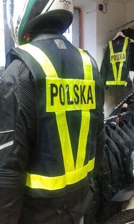 Super prezent Kamizelka odblaskowa motocyklowa POLSKA