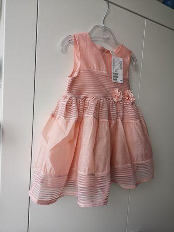 Sukienka księżniczka różowa h&m 80